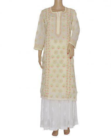 Front image of Chikankari kurta