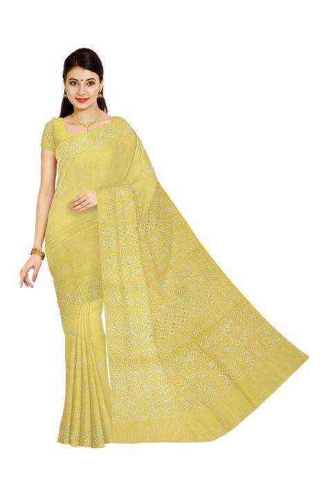 Front image of chikankari saree