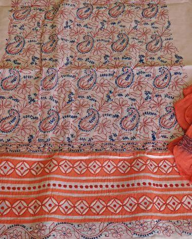 Front image of Chikankari cotton dress material